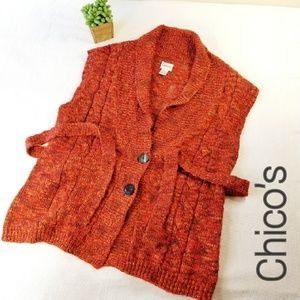 Chico's Size 3 XL Belted Sweater Vest GG2
